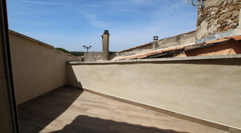 Aubignan terrasse de toit