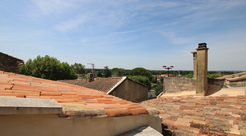 Aubignan terrasse de toit vue