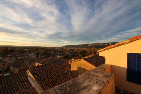 Mallemort maison de village vue Durance