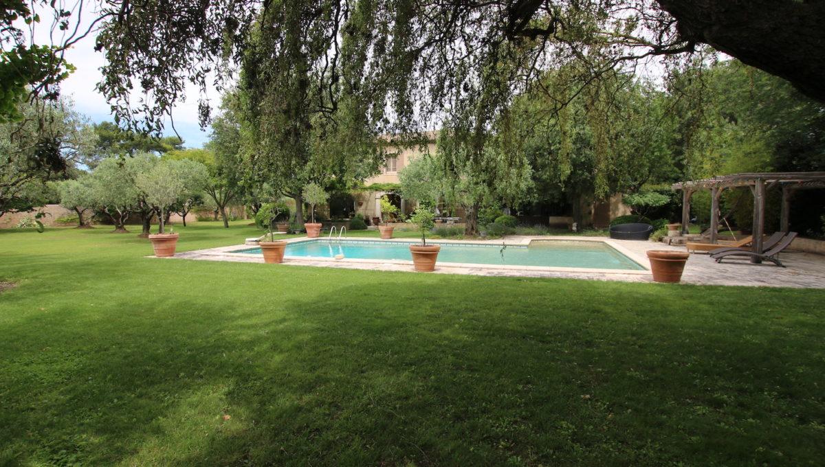 Carpentras demeure de charme jardin arbres