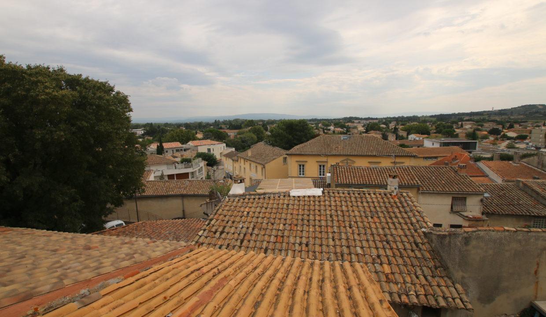 Vedene maison de village vue sur les toits